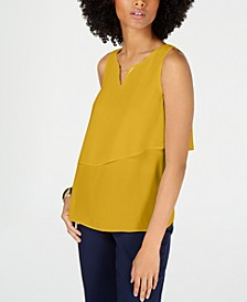 Hardware Tiered Sleeveless Top, Created for Macy's