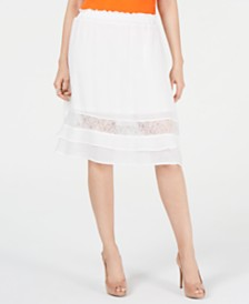 Thalia Sodi Gauze Lace Skirt, Created for Macy's