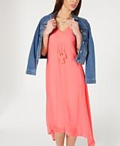 9a2bde25c3a7 Style & Co Asymmetrical-Hem Tassel Dress, Created for Macy's
