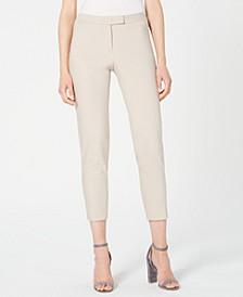 Faux-Pocket Mid-Rise Pants