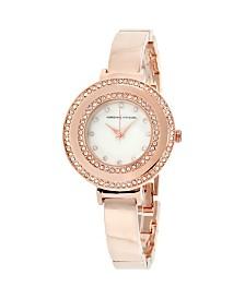 Adrienne Vittadini Collection Women's Rose Gold Analog Quartz Watch
