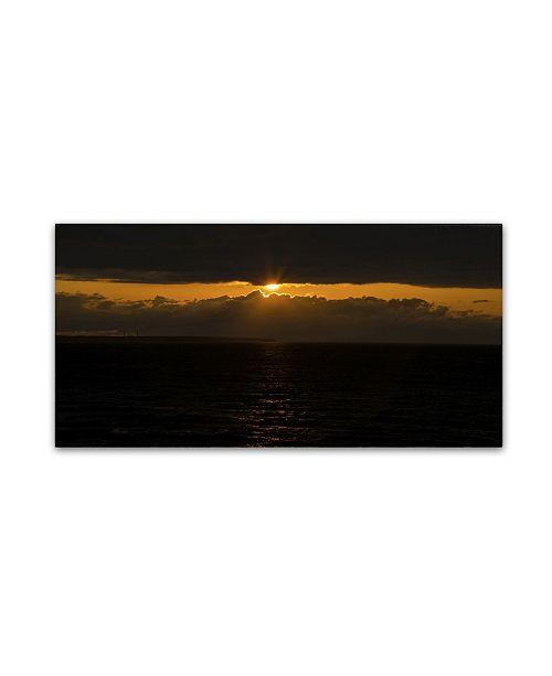 """Trademark Global Kurt Shaffer 'Cool Sunset' Canvas Art - 12"""" x 24"""""""