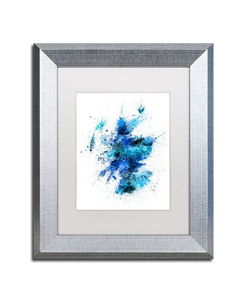 "Trademark Global Michael Tompsett 'Scotland Paint Splashes Map II' Matted Framed Art - 11"" x 14"""