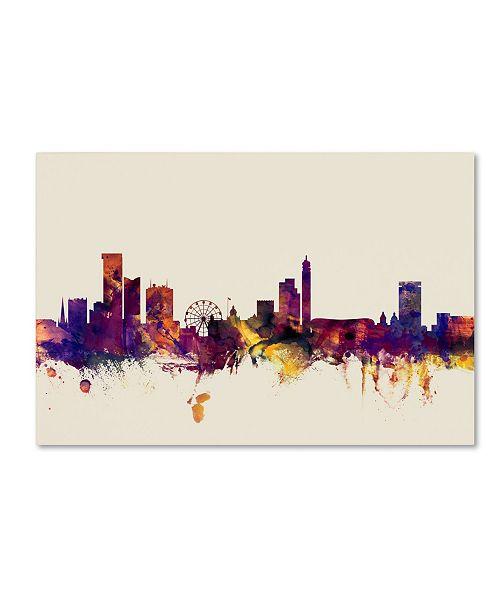 "Trademark Global Michael Tompsett 'Birmingham England Skyline' Canvas Art - 12"" x 19"""