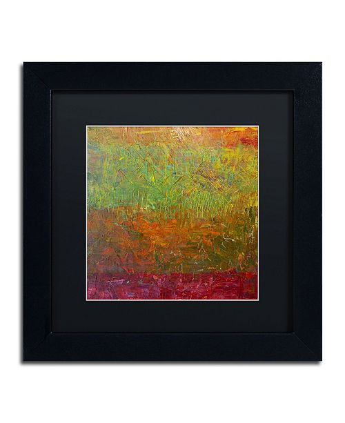 "Trademark Global Michelle Calkins 'Fallen Leaves' Matted Framed Art - 11"" x 11"""