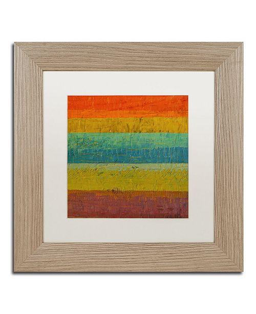 "Trademark Global Michelle Calkins 'Red Line' Matted Framed Art - 11"" x 11"""