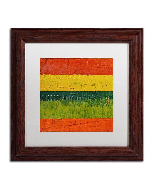 "Trademark Global Michelle Calkins 'Fence' Matted Framed Art - 11"" x 11"""