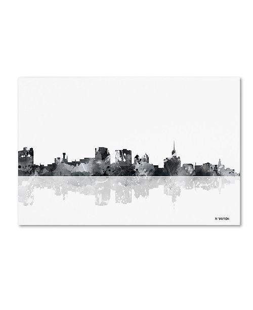 "Trademark Global Marlene Watson 'Buffalo New York Skyline BG-1' Canvas Art - 12"" x 19"""