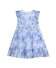 Laura Ashley Toddler and Little Girl's Ruffle Sleeve Dress