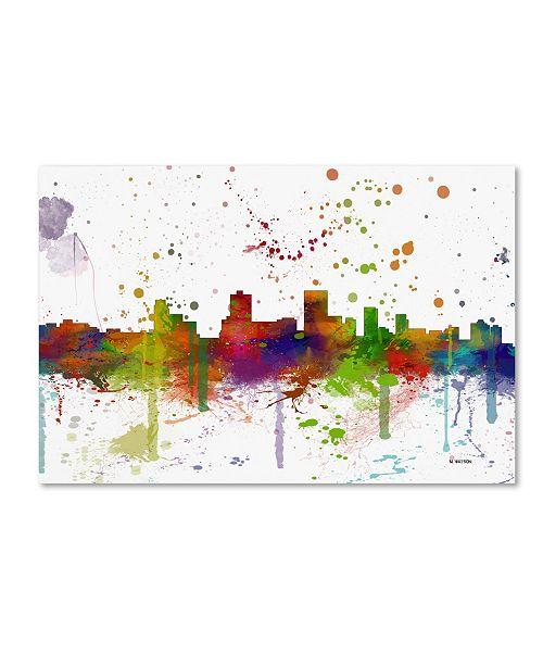 "Trademark Global Marlene Watson 'Anchorage Alaska Skyline Mclr-1' Canvas Art - 12"" x 19"""