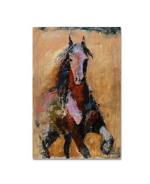 "Trademark Global Joarez 'Golden Horse' Canvas Art - 12"" x 19"""