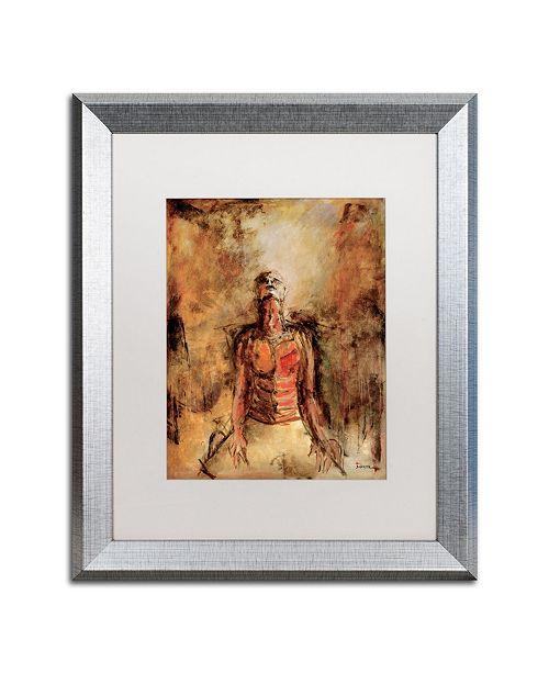 """Trademark Global Joarez 'Totally Surrender' Matted Framed Art - 16"""" x 20"""""""