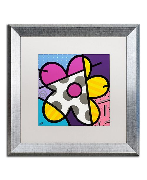 "Trademark Global Roberto Rafael 'Big Flower II' Matted Framed Art - 16"" x 16"""