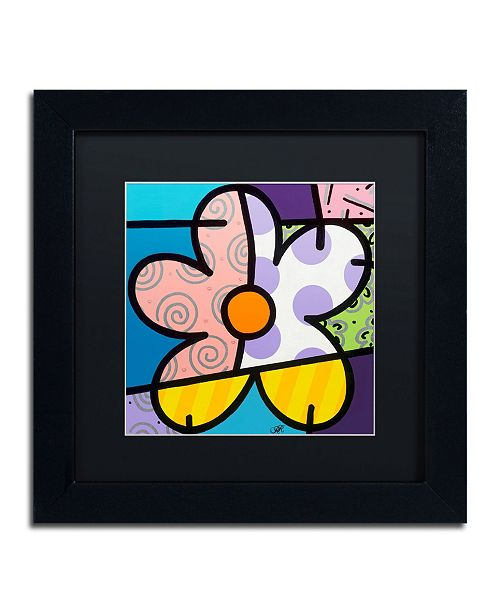 "Trademark Global Roberto Rafael 'Big Flower IV' Matted Framed Art - 11"" x 11"""