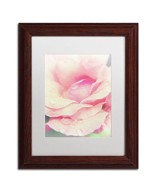 """Trademark Global PIPA Fine Art 'Softened Rose' Matted Framed Art - 11"""" x 14"""""""