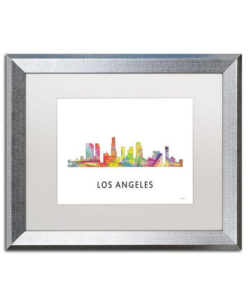 "Trademark Global Marlene Watson 'Los Angeles CA Skyline WB-1' Matted Framed Art - 16"" x 20"""