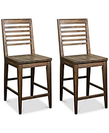 Mila Counter Stool, 2-Pc. Set (2 Counter Stools)