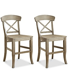 Layla Counter Stool, 2-Pc. Set (2 Counter Stools)