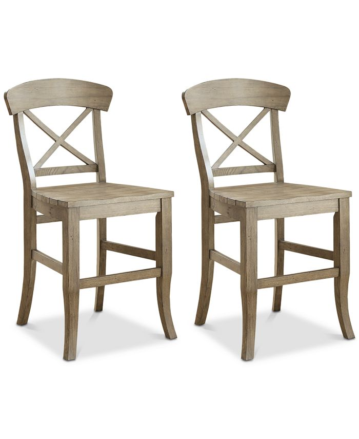 Furniture - Layla Counter Stool, 2-Pc. Set (2 Counter Stools)