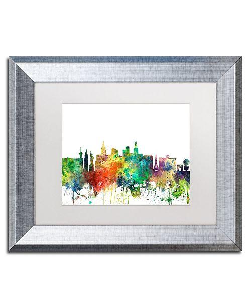 "Trademark Global Marlene Watson 'Las Vegas Nevada Skyline SP' Matted Framed Art - 11"" x 14"""