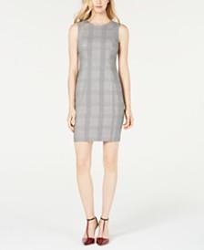 Calvin Klein Petite Plaid Sheath Dress