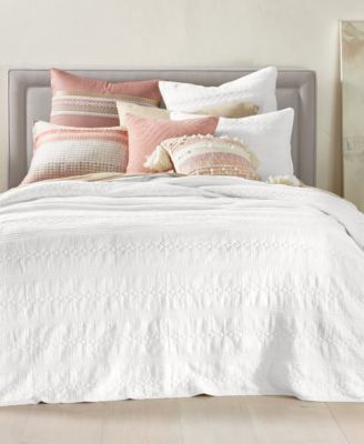 Crinkle Gauze Cotton Twin Coverlet, Created for Macy's
