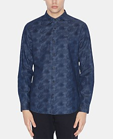 A|X Armani Exchange Men's Palm-Print Shirt