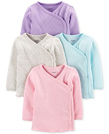Carter's Baby Girls 4-Pk. Cotton Kimono T-Shirts