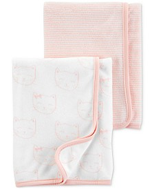 Carter's Baby Girls 2-Pk. Terry Bath Towels