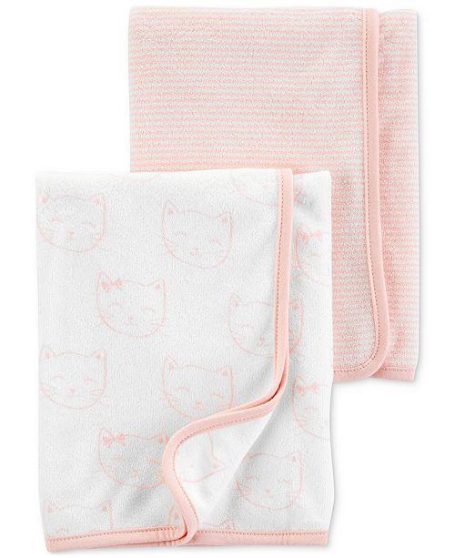 Carter's Baby Girls 2-Pk. Terry Bath Towels