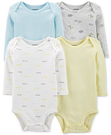 Carter's Baby Boys & Girls 4-Pk. Cotton Bodysuits