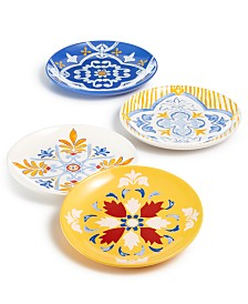 Martha Stewart Collection La Dolce Vita Salad Plates, Set of 4, Created for Macy's