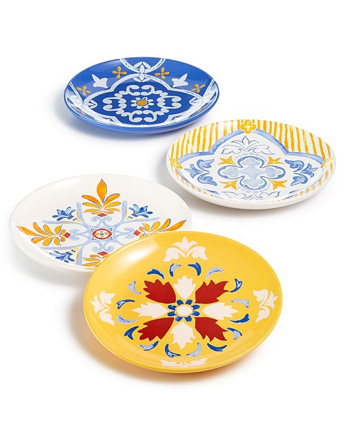 Martha Stewart Collection CLOSEOUT! La Dolce Vita Salad Plates, Set of 4, Created for Macy's