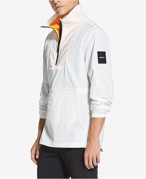 DKNY Men's Logo-Print 1/4-Zip Jacket