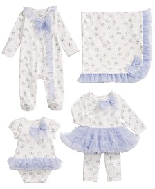 First Impressions Baby Girls Lilac Tulle Blanket & Matching Outfits Created for Macy's