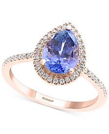 EFFY® Tanzanite (1-1/2 ct. t.w.) & Diamond (1/4 ct. t.w.) Statement Ring in 14k Rose Gold