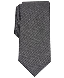 Men's Solid Texture Slim Tie, Created for Macy's