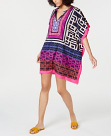 Trina Turk Printed Poncho Dress