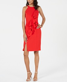 Vince Camuto Halter Ruffle Dress