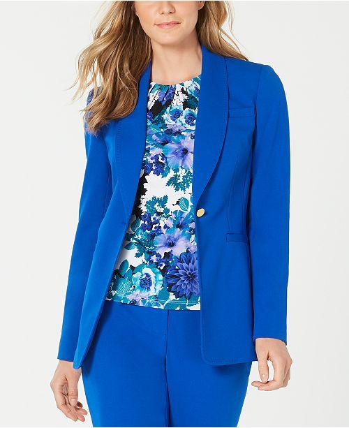 Calvin Klein Shawl-Collar One-Button Jacket