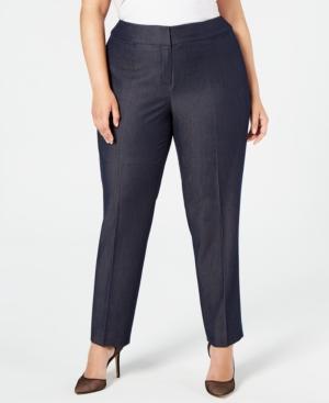 Nine West Plus Straight-Leg Pants