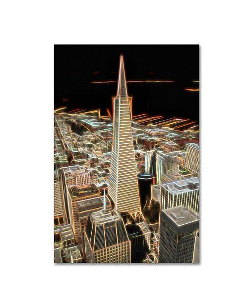 "Trademark Global Erik Brede 'City Lights' Canvas Art - 12"" x 19"""