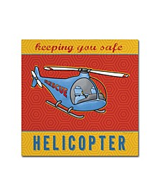 "Stephanie Marrott 'Helicopter' Canvas Art - 14"" x 14"""