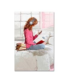 "The Macneil Studio 'Girl With Headphones' Canvas Art - 12"" x 19"""