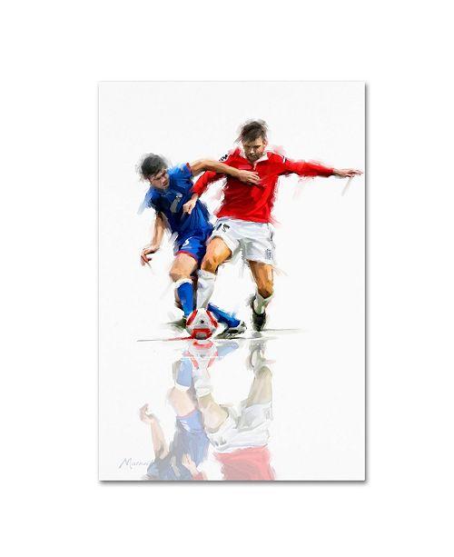 "Trademark Global The Macneil Studio 'Football Players' Canvas Art - 12"" x 19"""