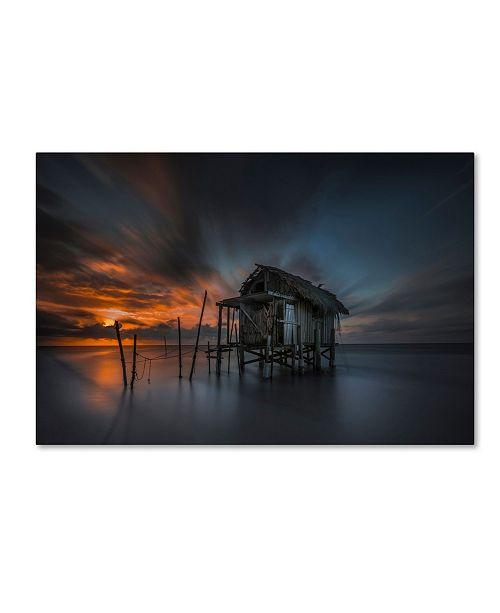 "Trademark Global Moises Levy 'Mi Casa en el Mar' Canvas Art - 12"" x 19"""