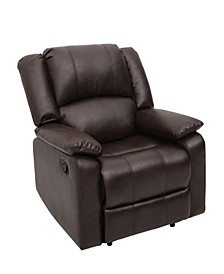 Austin Recliner Chair With Faux Leather Eucalyptus Wood