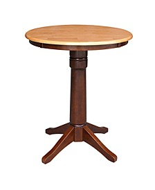 "30"" Round Top Pedestal Table- 34.9""H"