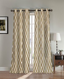 "Kittattinny 38"" x 84"" Trellis Print Blackout Curtain Set"