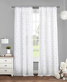 "Trina 38"" x 84"" Pair Metallic Printed Curtain Set"